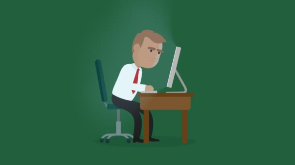 An Angry Businessman Shouting Against A Pc Monitor And Banging His Fist On Keyboard At Office