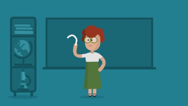 Female Class Teacher Teaching Mathematics In Class