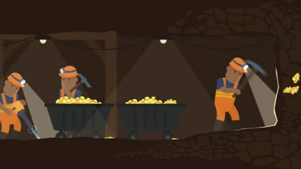 Gold Miner kopání podzemního tunelu pro zlato