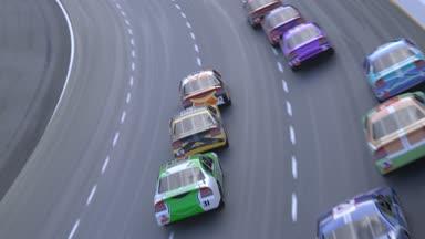 Camera Car Auto Da Corsa : Passa l auto da corsa u video stock mostockfootage