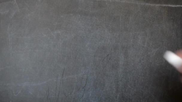 Draw on the blackboard with chalk. Dollar sign.