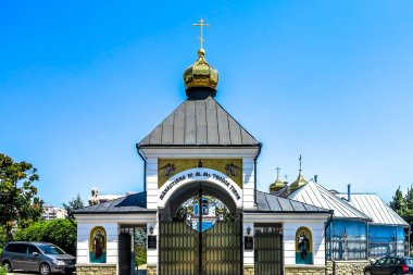 Chisinau Ciuflea Monastery Saint Theodore Tyro Main Gate Entrance View