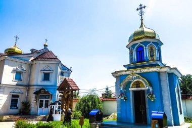 Chisinau Ciuflea Monastery Saint Theodore Tyro Blue Colored Facade Chapel