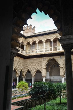 Seville Alcazar. Palace of the Spanish Kings in Andalusia, Spain.