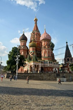 St. Basil's Cathedral in Moscow. Pokrovsky temple in the capital of Russia.