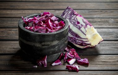 Cabbage salad in the bowl.