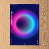 Moderní vektorové ilustrace design šablony návrhu abstraktní přechodu kapaliny kapalný neon barevný kryt