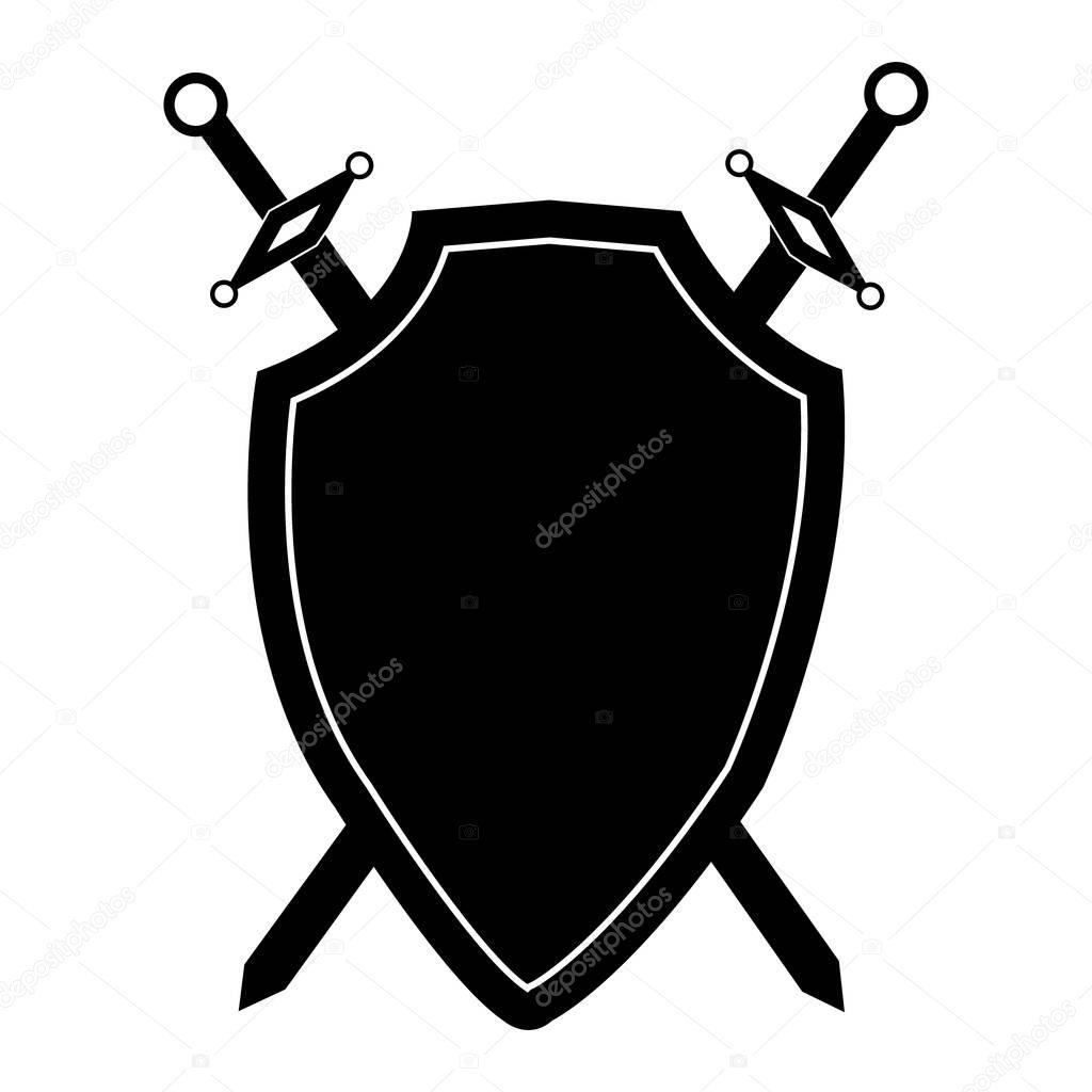 щит и меч картинка черно белая сам паршивый, там