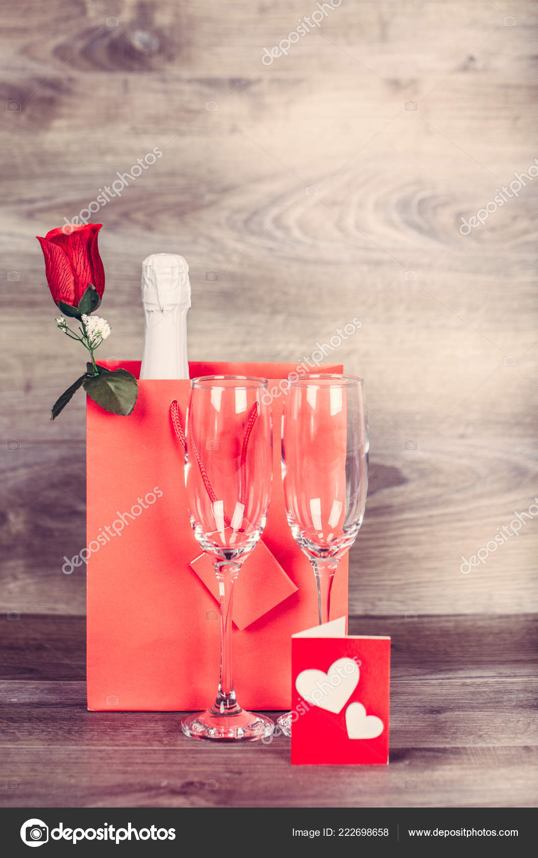 Valentines Day Champagne Wine Glasses Love Message Appointment