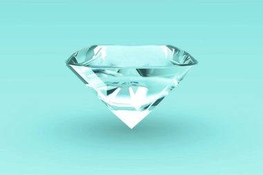 Diamond Concept Background 3D Rendering