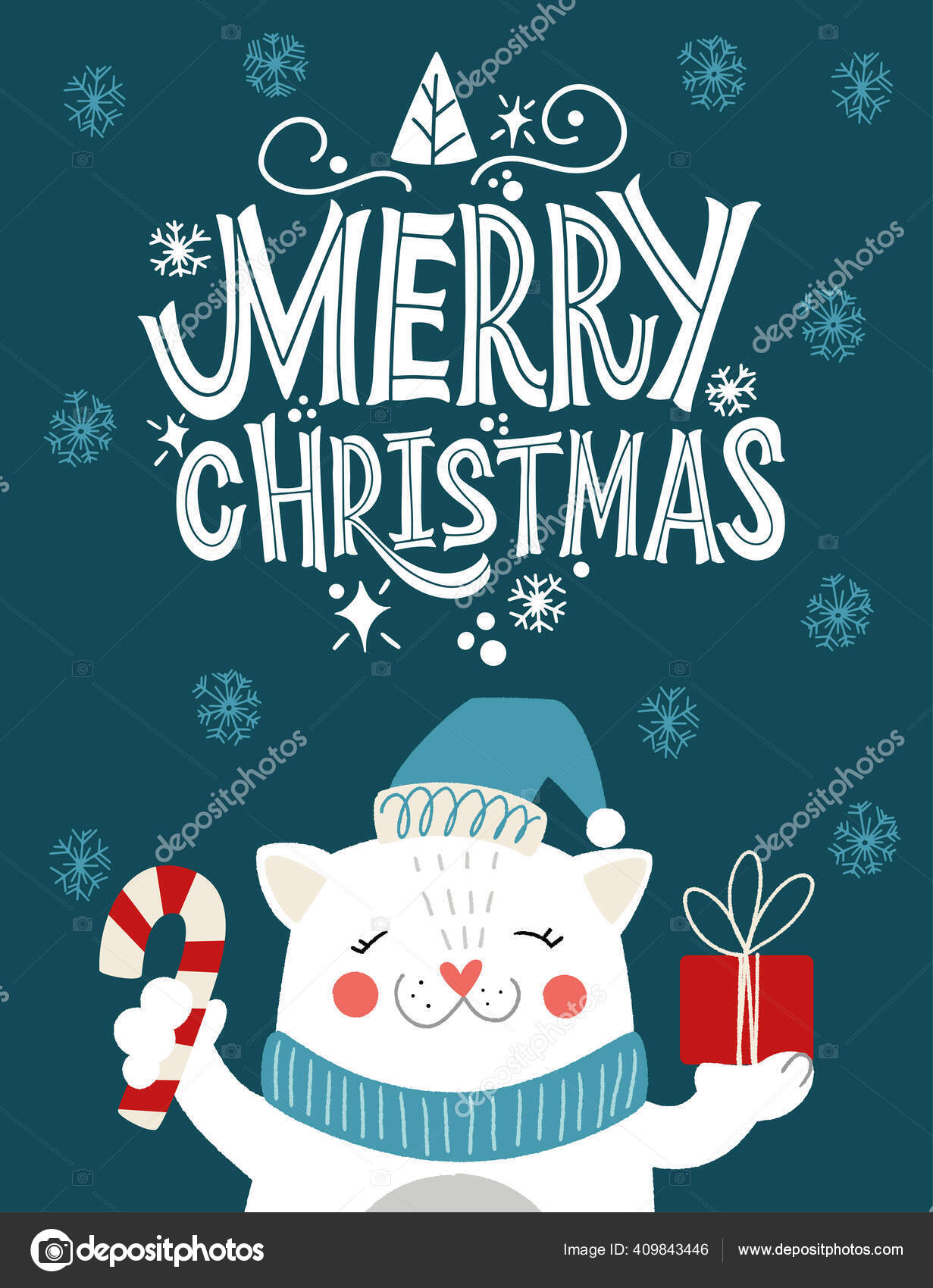 Cat Christmas Cards 2021