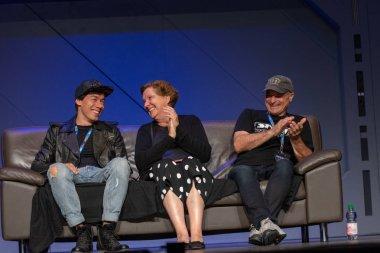 FUERTH, Germany - September 22nd 2018: Susanna Bonaswicz (born 1955, german voice actress - Bibi Blocksberg, Leia Organa in Star Wars) at Noris Force Con 5