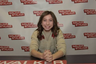 MANNHEIM, GERMANY - MAR 17th 2018: Katelyn Nacon (*1999, actress and singer, Enid on The Walking Dead) at Walker Stalker Germany, a two day convention for fans of The Walking Dead