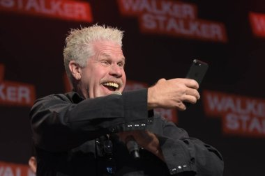 MANNHEIM, GERMANY - MAR 17th 2018: Ron Perlman (*1950, actor, Hellboy, Sons of Anarchy, Blade II) at Walker Stalker Germany, a two day convention for fans of The Walking Dead