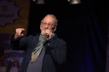 Dortmund, Germany - December 9th 2017: US Actor Robert Englund (* 1947, Freddy Krueger in the Nightmare on Elm Street film series, Freddy vs. Jason) at German Comic Con Dortmund.