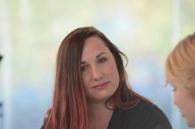 Frankfurt, Germany. 15th Oct, 2017. Jennifer L. Armentrout (* 1980), US bestselling writer, Frankfurt Bookfair / Buchmesse Frankfurt 2017