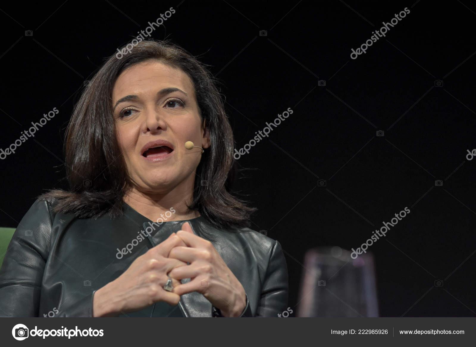 Frankfurt Germany 15Th Sep 2017 Sheryl Sandberg Coo Facebook
