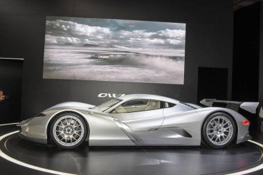 Frankfurt, Germany. 14th Sep, 2017. Aspark OWL. Impressions from day 3 of the 67th IAA International Motor Show in Frankfurt/Main on Tuesday, September 14th, 2017
