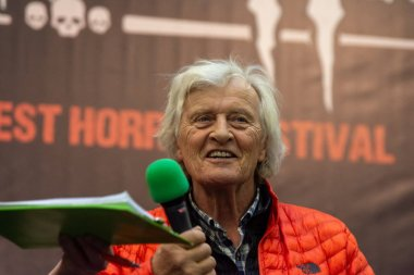 DORTMUND, GERMANY - November 3rd 2018: Rutger Hauer (*1944, actor, Blade Runner, The Hitcher, Nighthawks) at Weekend of Hell 2018, a two day (November 3-4 2018) horror-themed fan convention.