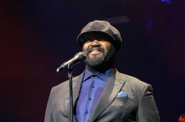 Frankfurt am Main, Germany - April 6th 2019: Gregory Porter (*1971, American jazz vocalist, songwriter, and actor) at Festhalle Frankfurt