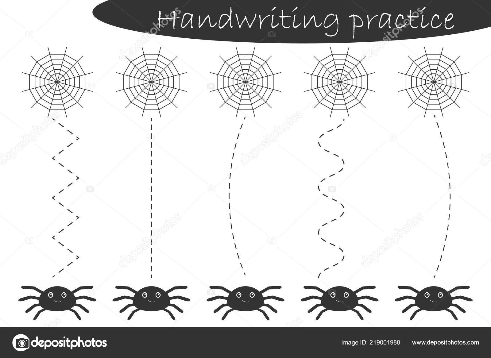 photograph relating to Printable Spiders referred to as Shots: printable spider Handwriting Train Sheet