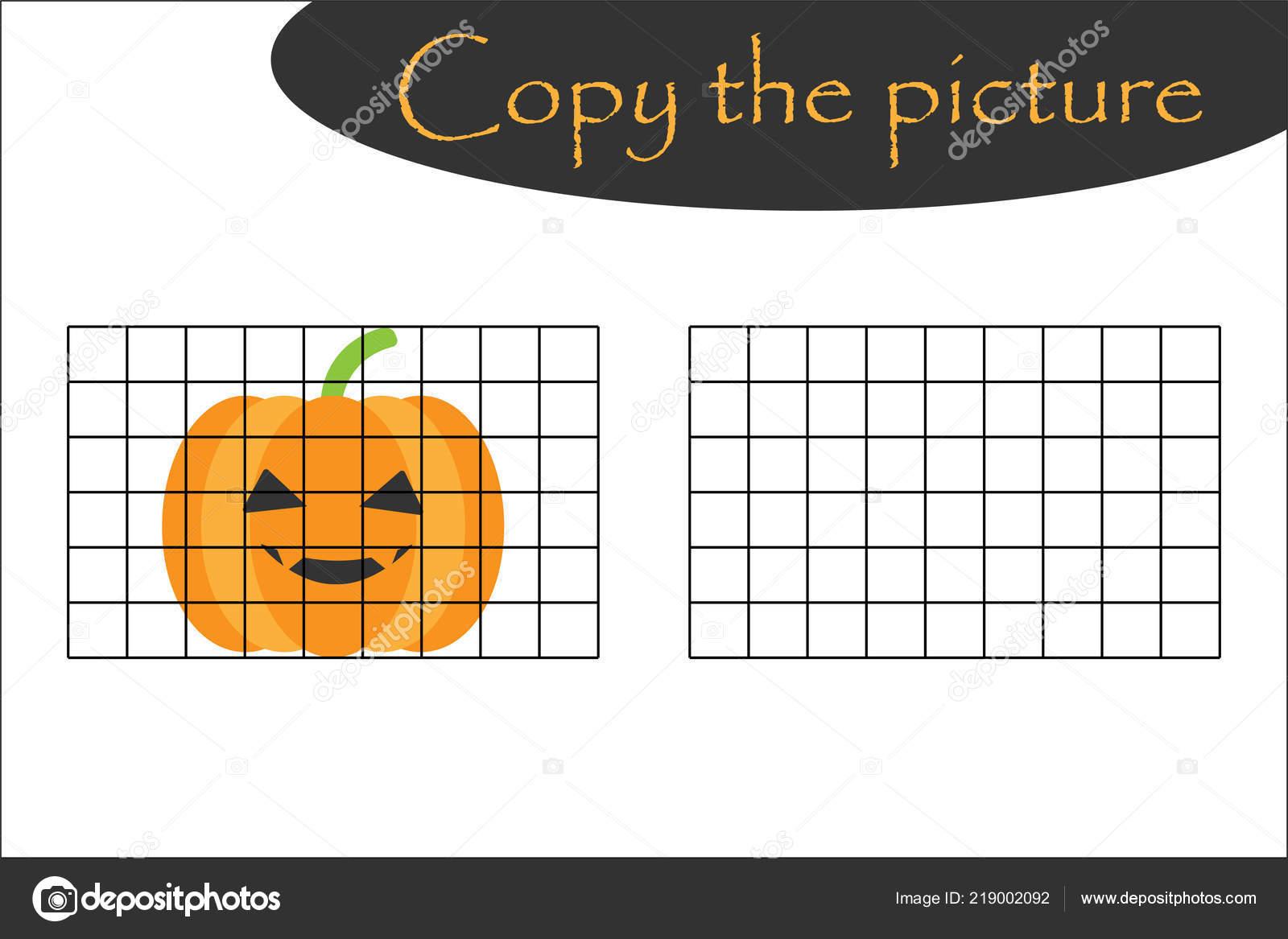 Copiar Cuadro Halloween Calabaza Estilo Dibujos Animados Dibujo