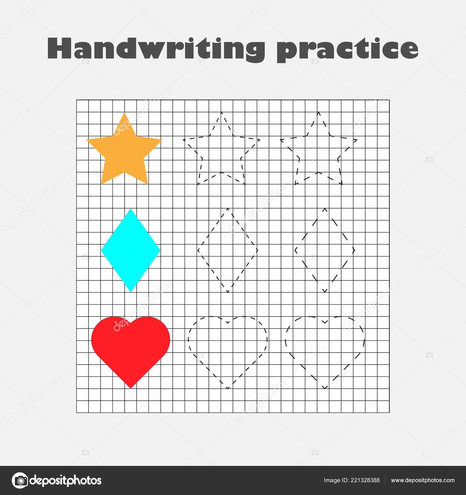 Handwriting Practice Sheet Kids Preschool Activity ...