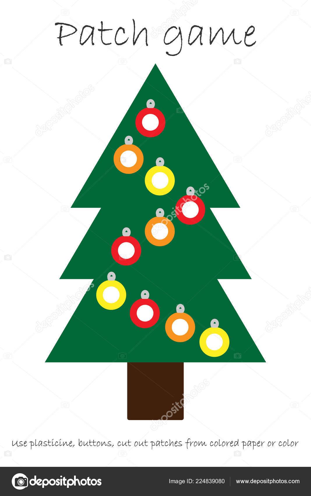 Educacion Parche Juego Arbol Navidad Para Los Ninos Desarrollar