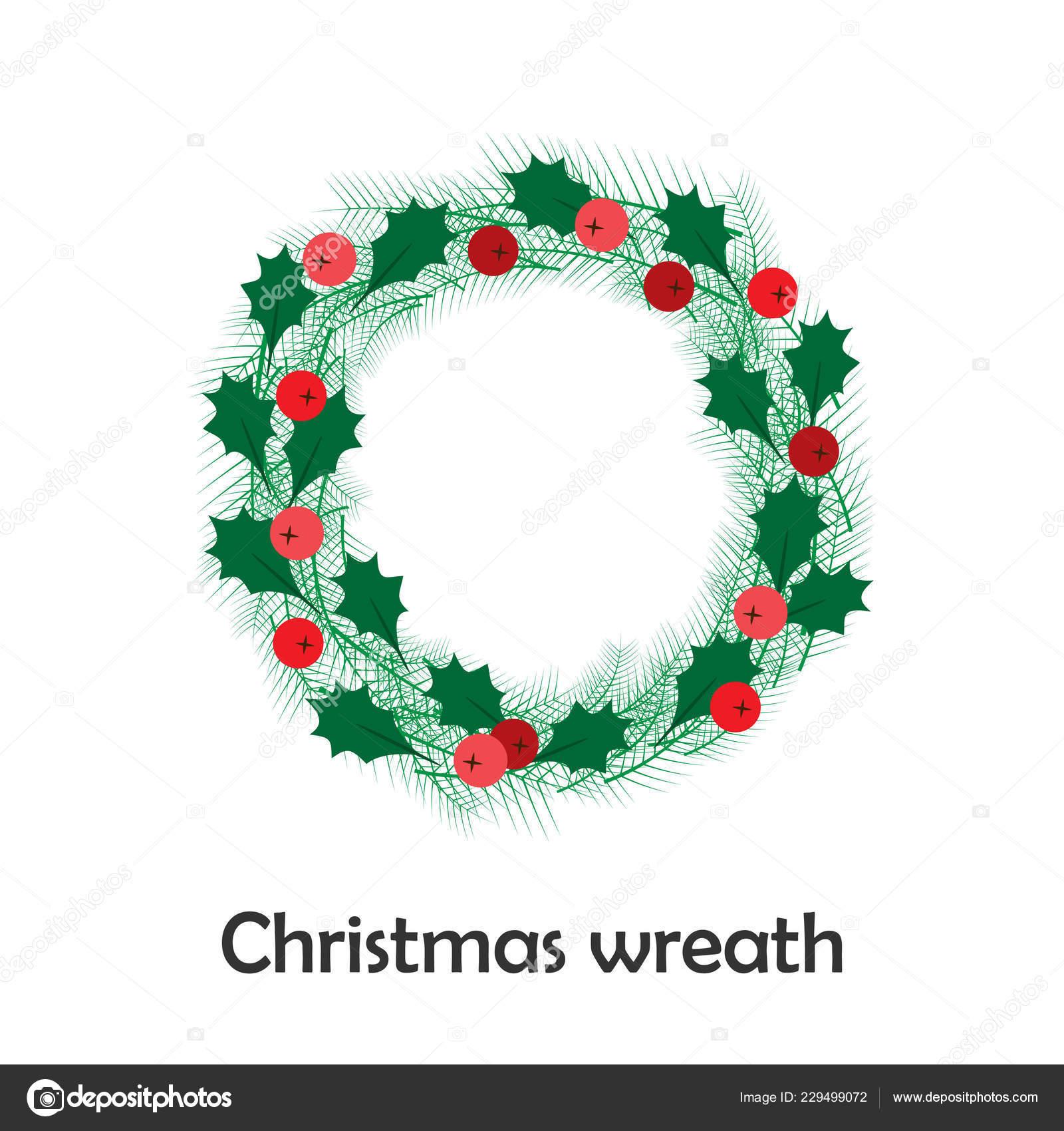 Dibujos Para Tarjetas De Navidad Para Ninos.Guirnalda Navidad Estilo Dibujos Animados Tarjeta Navidad