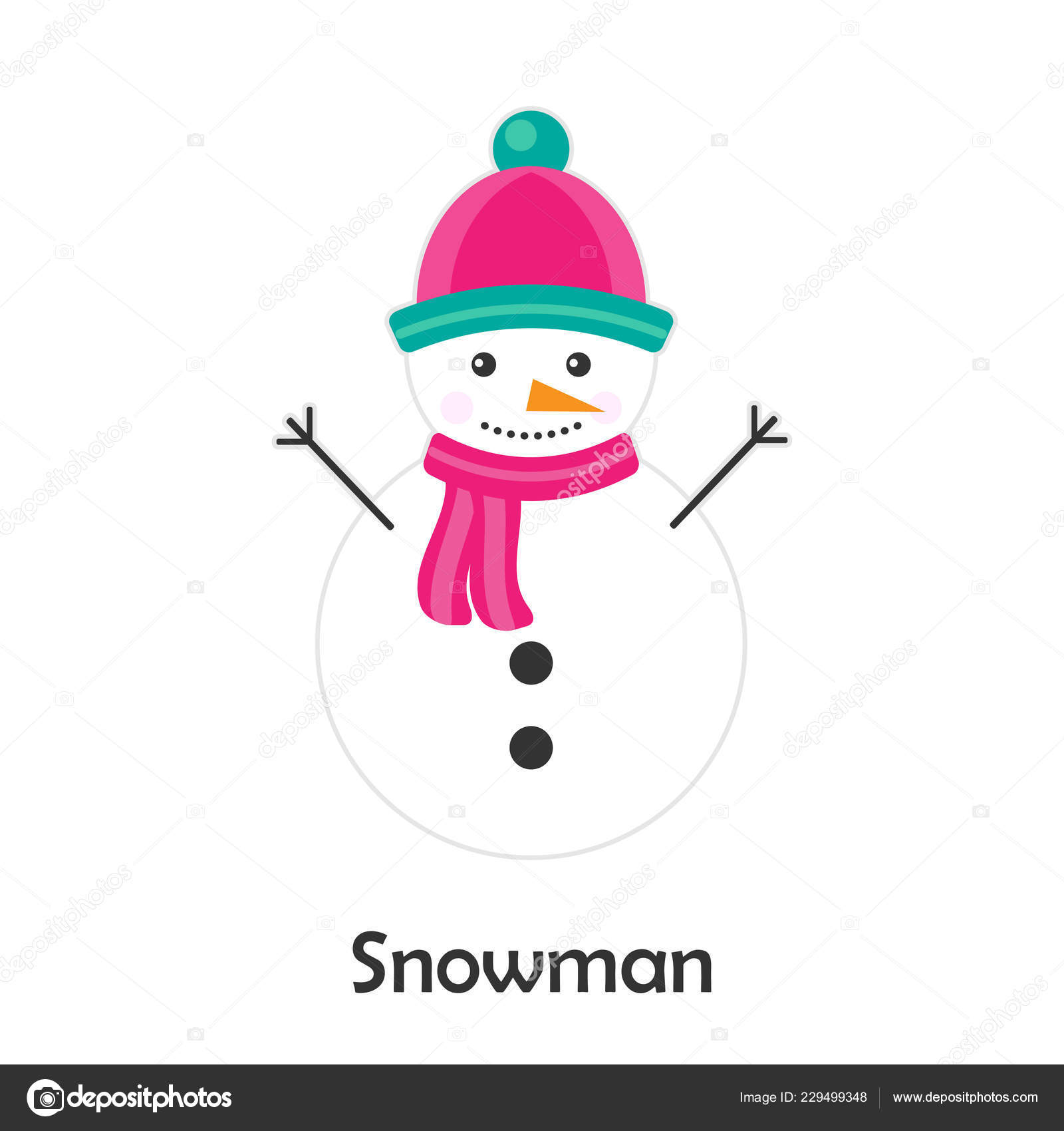 Dibujos Para Tarjetas De Navidad Para Ninos.Muneco Nieve Estilo Dibujos Animados Tarjeta Navidad Para