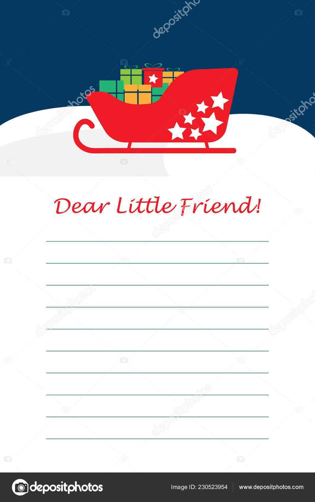 Christmas Letter Santa Claus Children Template Layot Fun