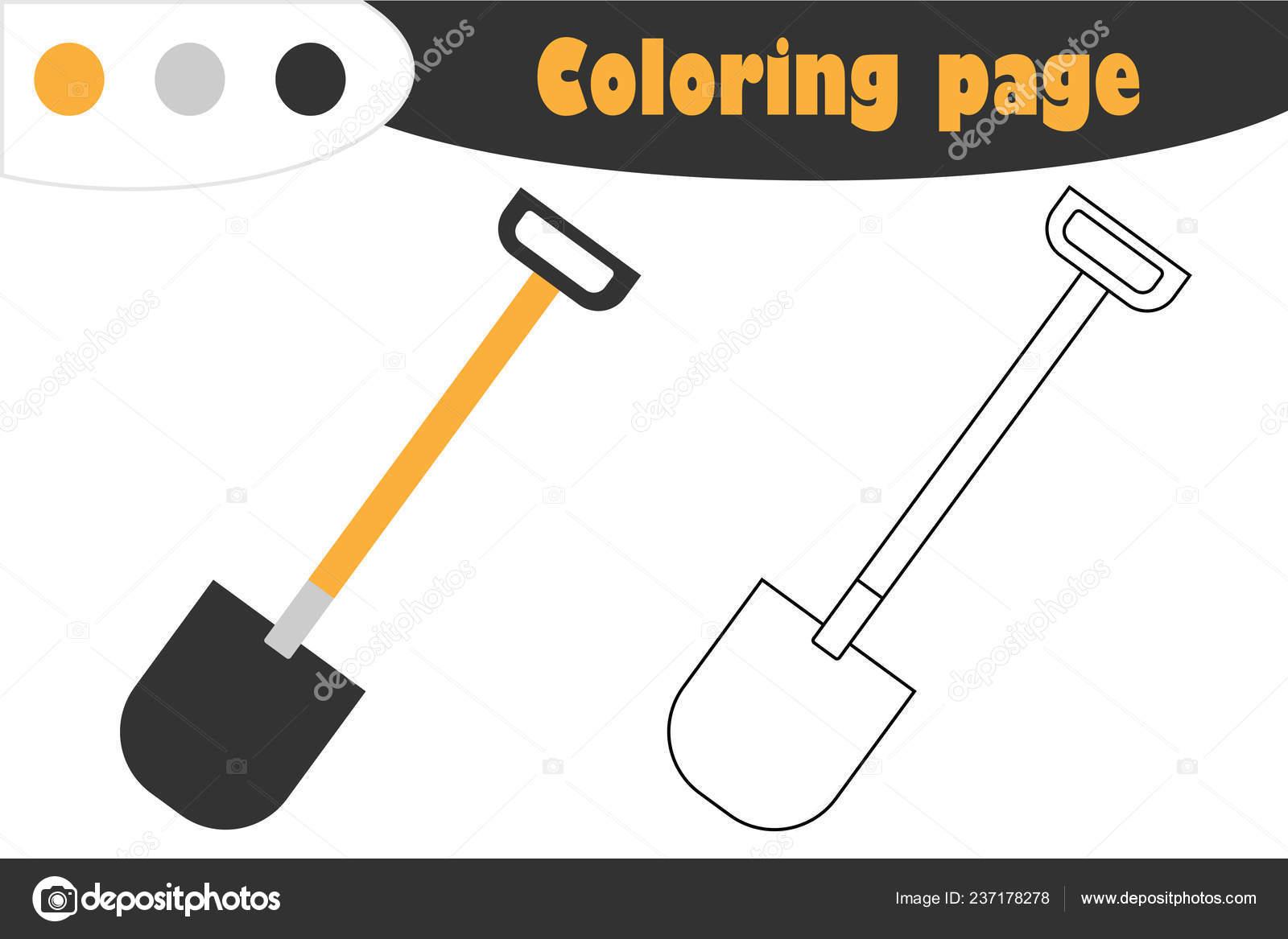 depositphotos stock illustration shovel in cartoon style coloring