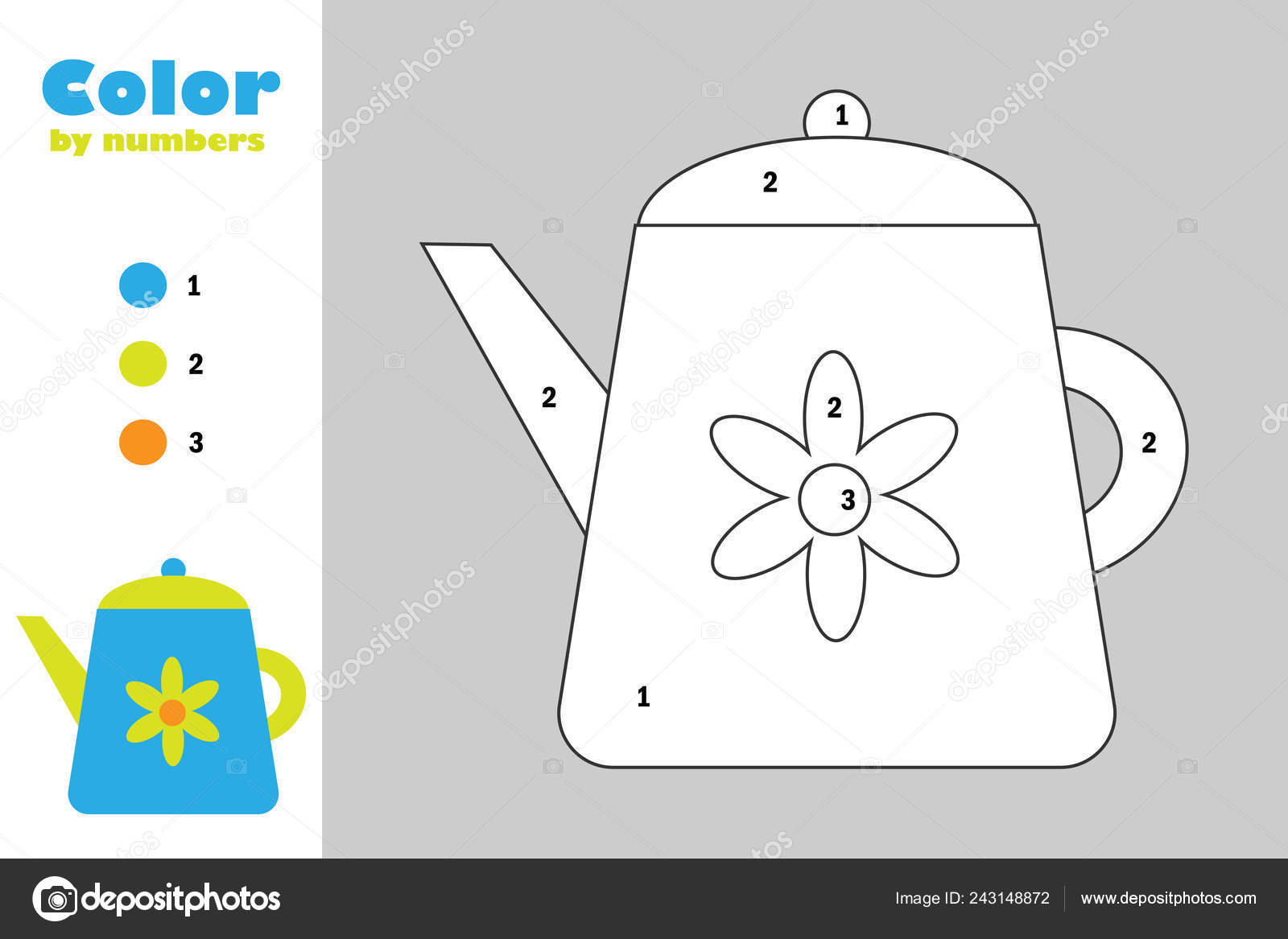 Karikatür Tarzı Numara Eğitim Kağıt çocukların Gelişimi Için Oyun