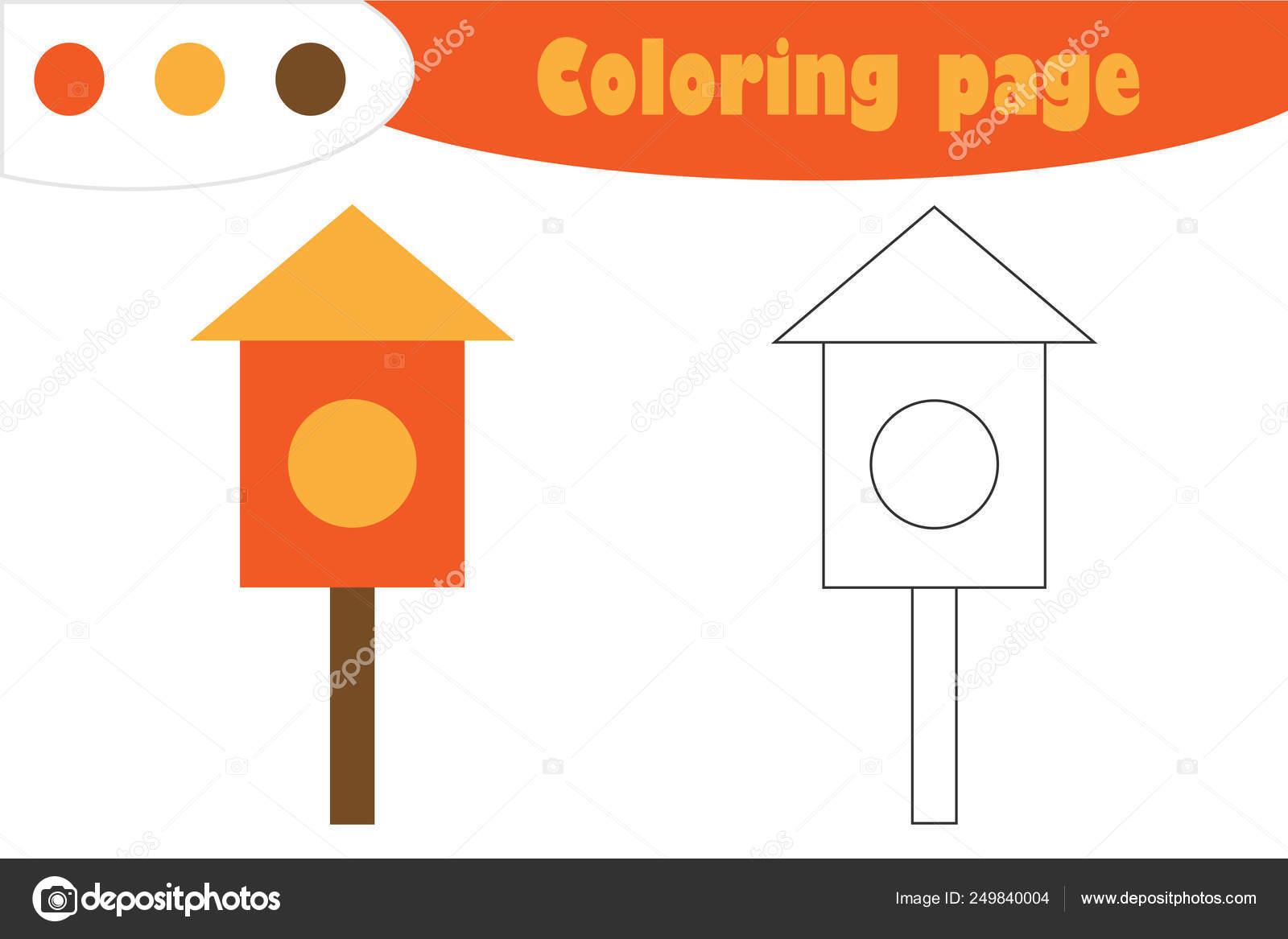 Anidación De La Caja En Estilo De Dibujos Animados Página Para