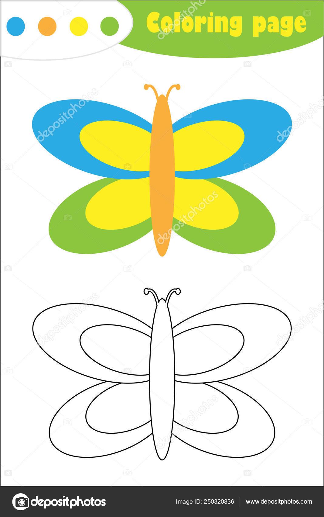 Mariposa En Estilo De Dibujos Animados Página Papel De La
