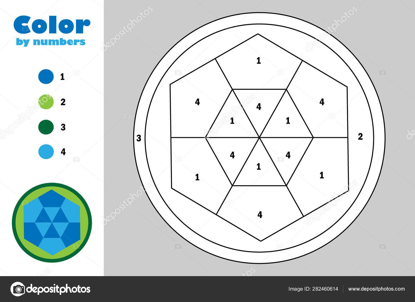 Mandala En Estilo De Dibujos Animados Color Por Número