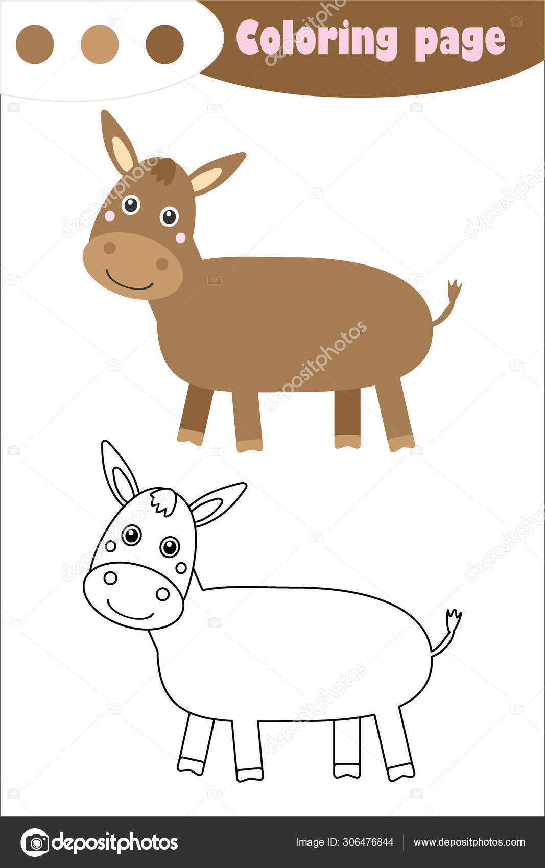Free Printable Donkey Coloring Pages For Kids | 1700x1067