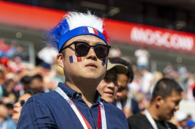 MOSCOW, RUSSIA - July, 2018: Fans during FIFA World Cup game