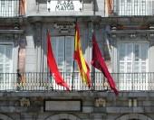 Plaza Mayor, hlavního náměstí v Madridu, Španělsko