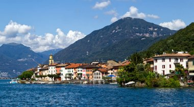 Navigation on Lake Lugano in summer. Lugano, Ticino canton, Switzerland
