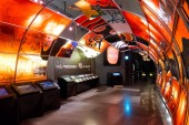 AOMORI, JAPAN - APRIL 22 2018: The Nebuta Warasse Museum is a great place to experience the beauty of the Nebuta festival with gigantic displays works of art, along with music and sounds