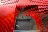 Aomori, Giappone - 23 aprile 2018: Il Nebuta Warasse Museo è un luogo ideale per sperimentare la bellezza della festa Nebuta con display gigantesche opere darte, insieme a musica e suoni