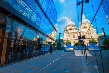 London, UK - May 15 2018: St Paul's Cathedral founded in 604, the present cathedral dating from late 17th century designed in the English Baroque style by Sir Christopher Wren