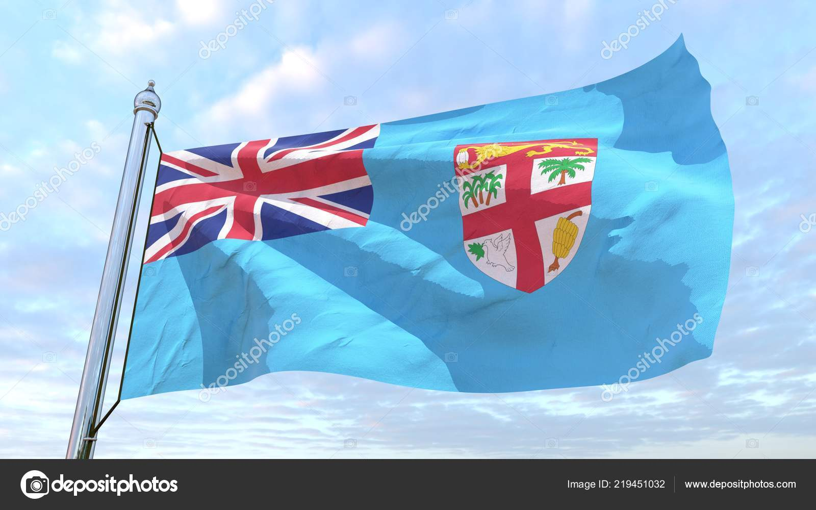 Flag Country Fiji Weaving Air Flying Sky — Stock Photo