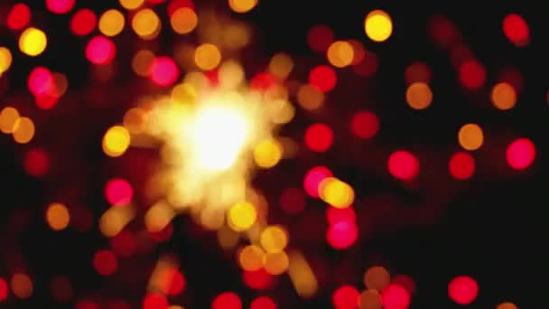 Defocused Blurred Lights Circles Sparkles Full Black Screen New Year Stock Video C A Paulau 229331098