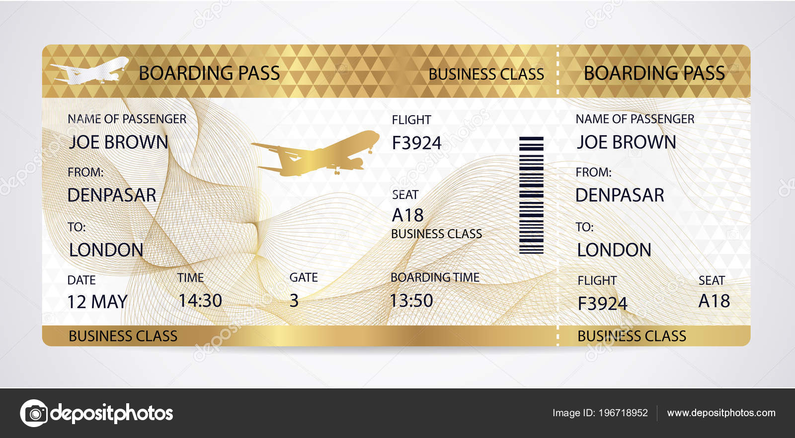 ticket voor vliegtuig