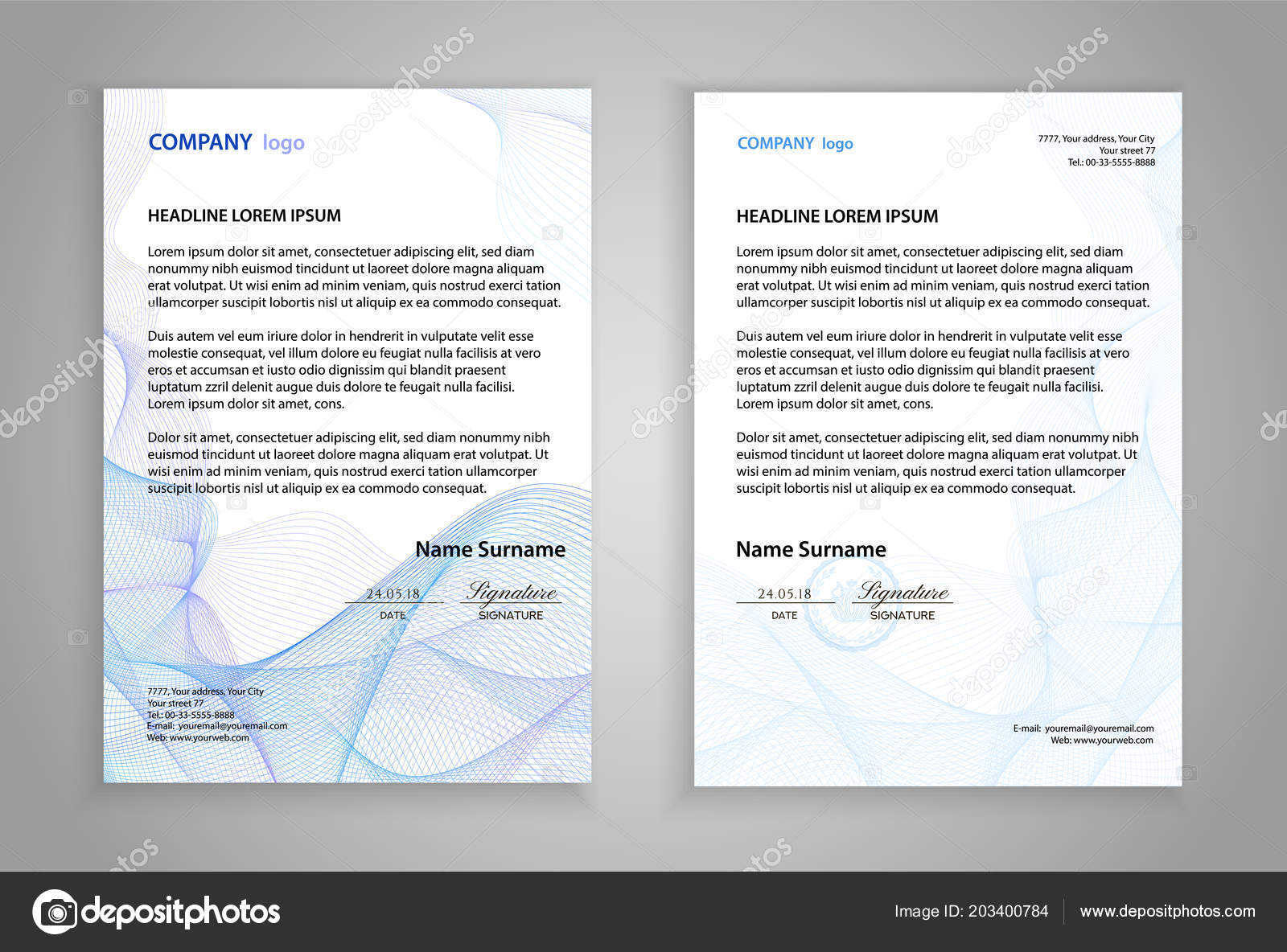letterhead template printable business letter layout modern examples