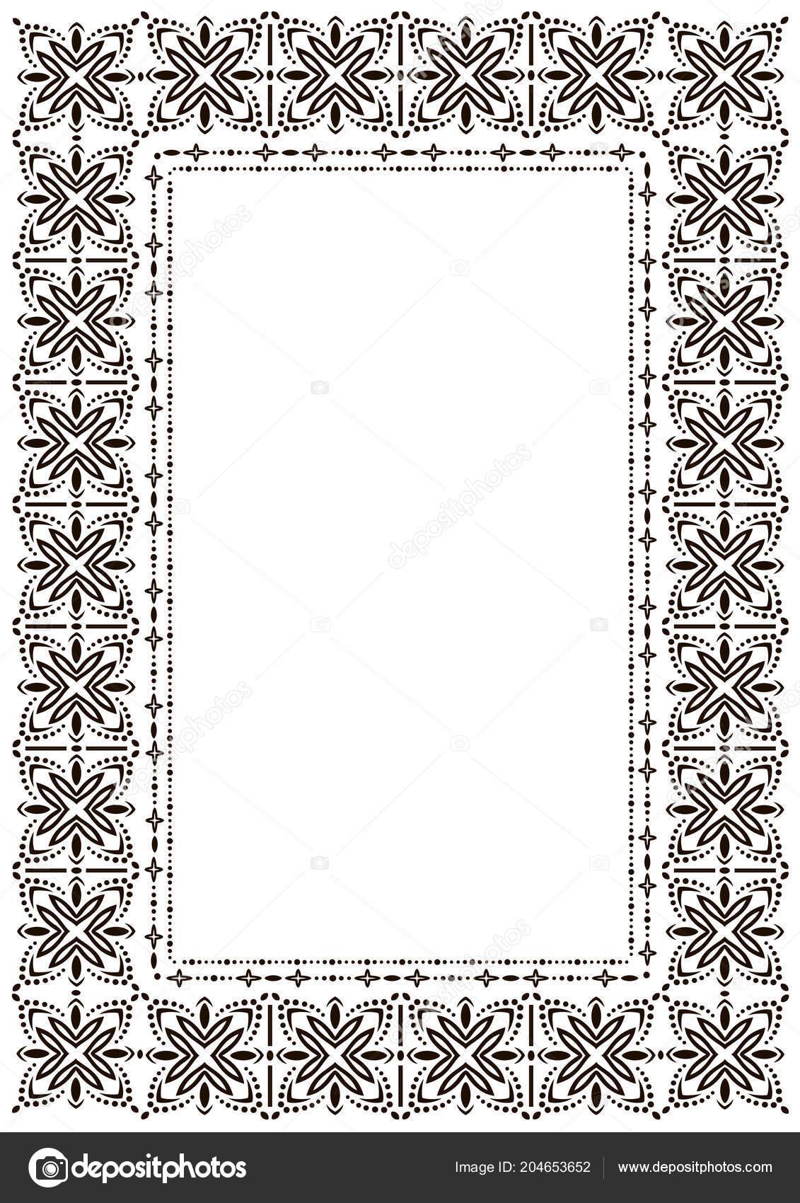 Frame border design template black white decorative vector border black and white decorative vector border on white blank background for certificate invitation document menu etc vetor por shiny777 stopboris Choice Image