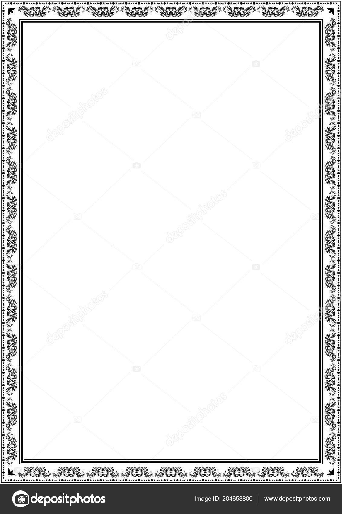 Frame Border Design Template Black White Decorative Vector Image By C Shiny777 Stock 204653800
