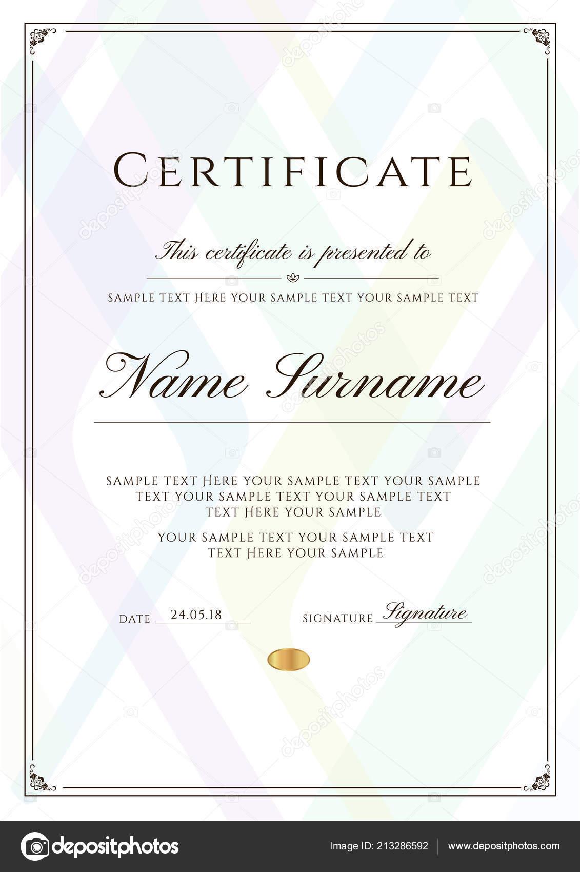certificate template frame border pattern design diploma certificate